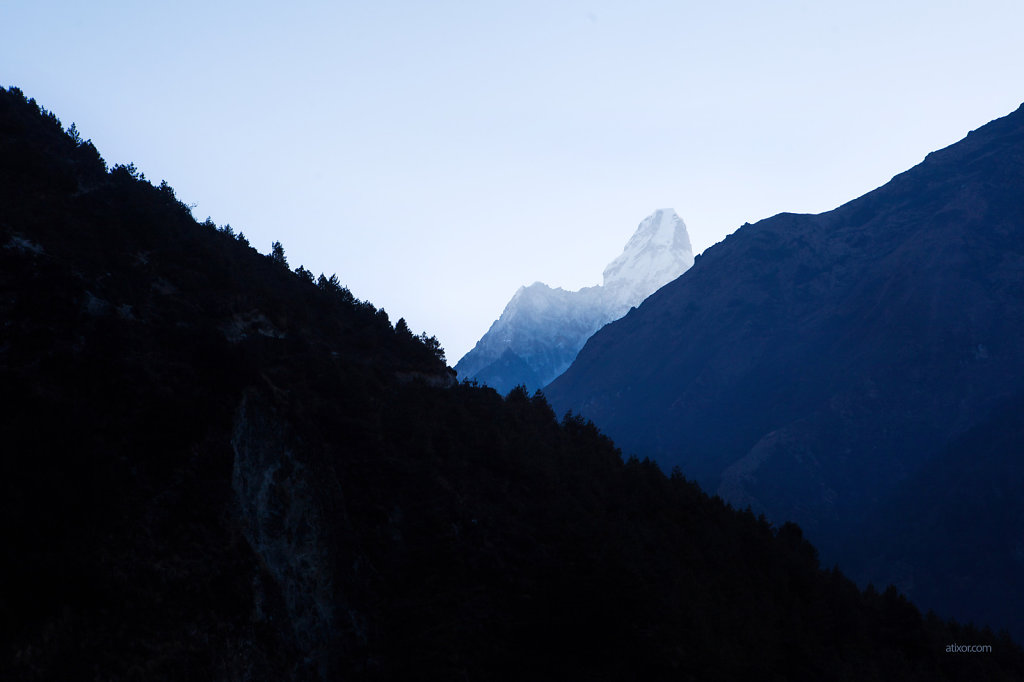 Ama Dablam. Nepal mountains