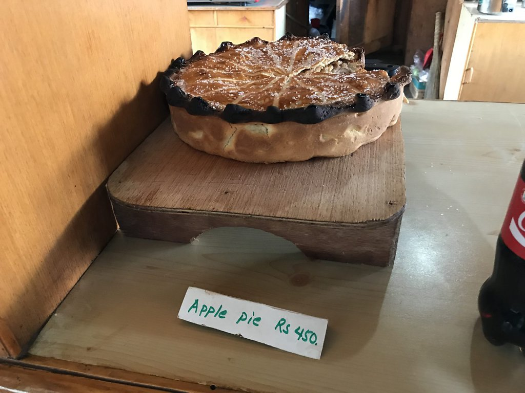 Apple pie, Tengboche Cafe